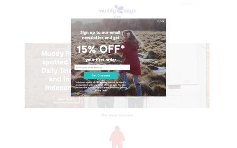 Screenshot of Press Page muddypuddles.com - Press Releases for Muddy Puddles - captured Sept. 22, 2018