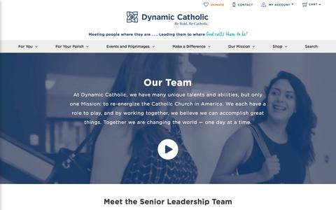 Screenshot of Team Page dynamiccatholic.com - Our Team | Dynamic Catholic - captured Aug. 20, 2019