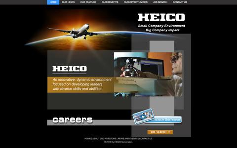 Screenshot of Jobs Page heico.com - HEICO Careers Home - captured Oct. 1, 2014