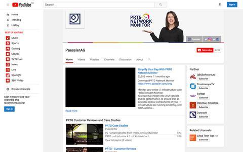 PaesslerAG  - YouTube