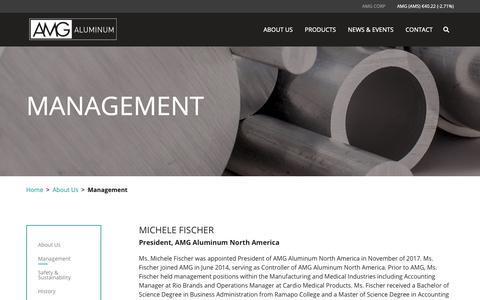 Screenshot of Team Page amg-al.com - Management – AMG Aluminum - captured Nov. 12, 2018