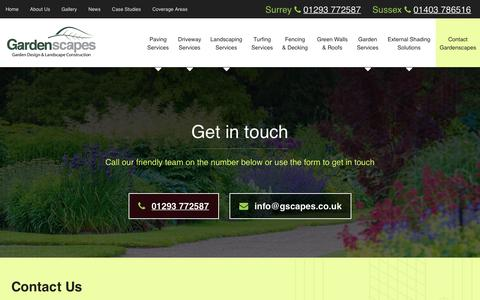 Screenshot of Contact Page gscapes.co.uk - Contact Us | Gardenscapes - captured Sept. 27, 2018