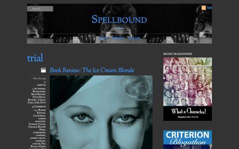 Screenshot of Trial Page spellboundbymovies.com - trial - captured Jan. 12, 2016