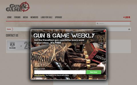 Screenshot of Contact Page gunandgame.com - Contact Us | Gun and Game - captured Nov. 2, 2015
