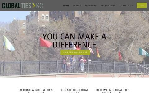 Screenshot of Signup Page globaltieskc.org - Join — Global Ties KC - captured March 1, 2016