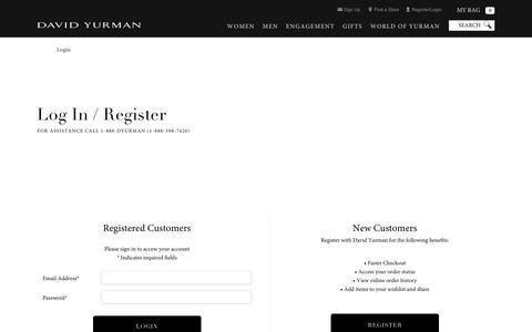 Screenshot of Login Page davidyurman.com - Login - captured June 4, 2017