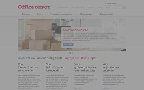Screenshot of Home Page officedepot.be - Homepage - captured Oct. 9, 2014