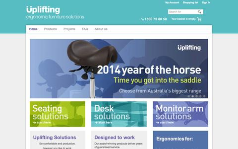 Screenshot of Case Studies Page uplifting.com.au - Uplifting Solutions - ergonomic furniture solutions - captured Oct. 26, 2014