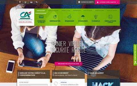 Screenshot of Home Page credit-agricole.fr - Crédit Agricole - Banque et assurances - captured Nov. 11, 2015