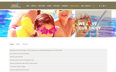 Screenshot of FAQ Page daisypoolcovers.com.au - FAQs - Daisy Pool Covers - captured Oct. 29, 2014