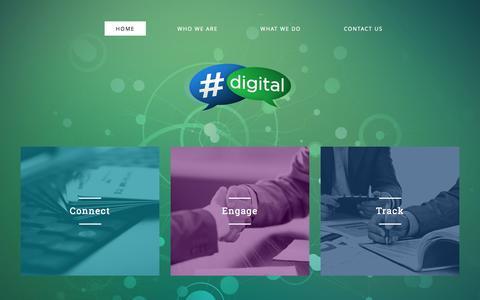 Screenshot of Home Page hashtagdigital.ph - Hashtag Digital Inc. - Online marketing ad agency Philippines! - captured Oct. 2, 2014