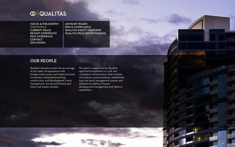Screenshot of Team Page qualitas.com.au - Qualitas - Our People - captured Oct. 3, 2014