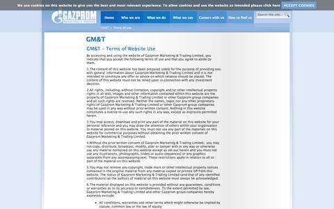 Screenshot of Terms Page gazprom-mt.com - GM&T - Gazprom Marketing & Trading - captured Oct. 2, 2014