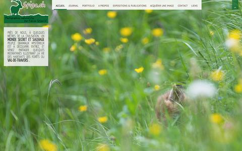 Screenshot of Home Page spiga.ch - Spiga.ch - Photographies animalières par Fabian Spigariol. - captured Oct. 17, 2015