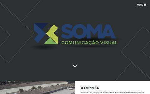 Screenshot of Home Page somacomunicacaovisual.com.br - Comunicação Visual - Soma Comunicação Visual - captured Oct. 18, 2018