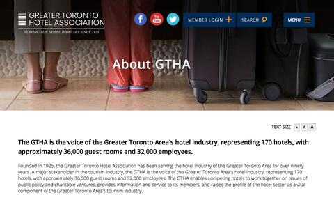 Screenshot of Contact Page Maps & Directions Page gtha.com - About GTHA   Greater Toronto Hotel Association - captured Sept. 19, 2017