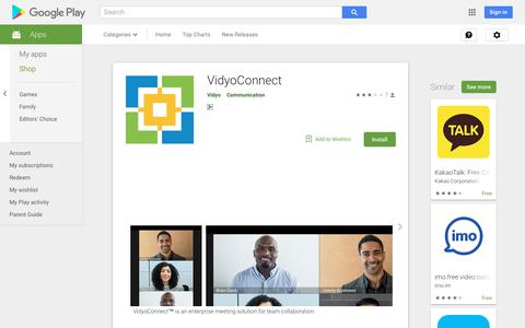 VidyoConnect - Apps on Google Play