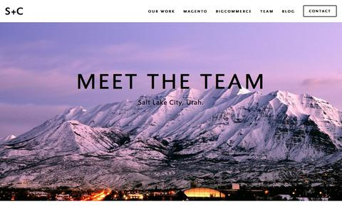 Screenshot of Team Page schawelcoles.com - Salt Lake City, Utah Team of Developers and Designers — eCommerce agency in Utah specializing in Magento + Bigcommerce - captured July 18, 2018