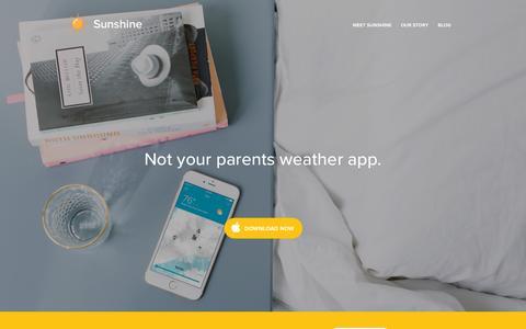 Screenshot of Home Page thesunshine.co - Sunshine - captured Jan. 19, 2016