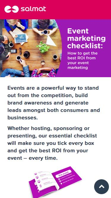 Event Marketing Checklist - How to get the best ROI from Event Marketing