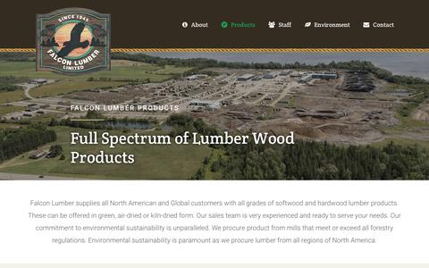 Screenshot of Products Page falconlumber.com - Products - Falcon Lumber - captured Nov. 30, 2018