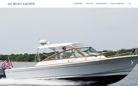 Screenshot of Home Page huntyachts.com - Hunt Yachts - captured Sept. 11, 2019