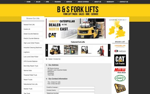 Screenshot of Contact Page bs-forklifts.co.uk - Contact Us | B & S forklifts - B & S Forklifts - captured Oct. 1, 2014