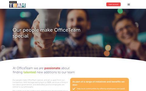 Screenshot of Jobs Page officeteam.co.uk - Careers - OfficeTeam - captured July 25, 2019