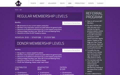 Screenshot of Signup Page boernetheatre.org - Join - captured Nov. 23, 2016