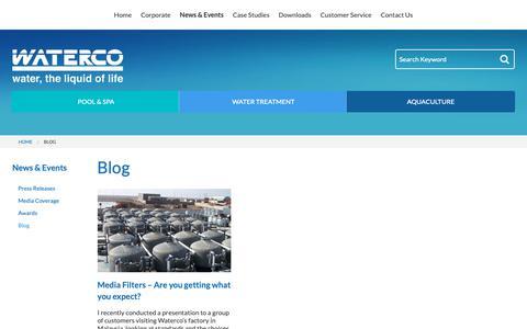 Screenshot of Blog waterco.com.au - Waterco - captured Oct. 18, 2018
