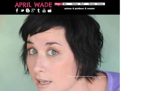 Screenshot of Home Page aprilwade.com - April Wade - captured Oct. 8, 2015