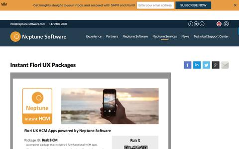 Screenshot of Products Page neptune-software.com - Instant Fiori UX Packages | Neptune Software - captured April 13, 2017