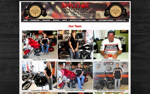 Screenshot of Team Page appletonharley.com - Staff | Appleton Harley-Davidson® | Clarksville Tennessee - captured Oct. 4, 2014