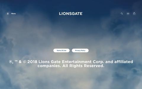 Screenshot of Terms Page lionsgate.com - Legal | Lionsgate - captured Nov. 19, 2018