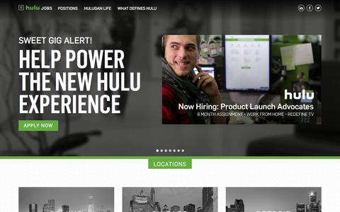Screenshot of Jobs Page hulu.com - Hulu Jobs - captured Feb. 27, 2017