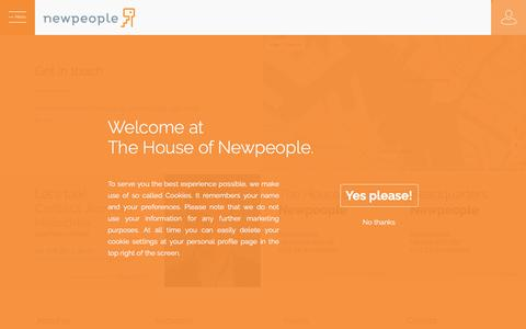 Screenshot of Contact Page newpeople.nl - Contact – Newpeople - captured Nov. 11, 2017