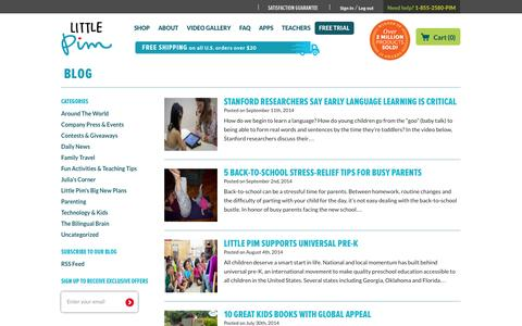 Screenshot of Blog littlepim.com - Learn a New Language with Little Pim | Little Pim Blog - captured Sept. 16, 2014