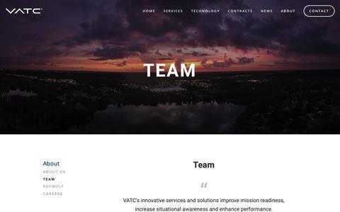 Screenshot of Team Page vatcinc.com - Team | VATC - captured May 17, 2019