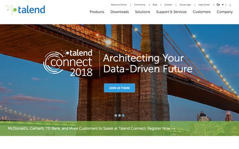 Talend Real-Time Big Data Integration Tools for MDM and ETL