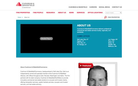 Screenshot of About Page comre.com - About Us | Cushman & Wakefield | Commerce Real Estate Solutions - captured Jan. 30, 2016