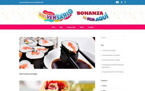 Screenshot of Blog bonanza.com.br - Blog - Bonanza Supermercados - captured Oct. 27, 2014