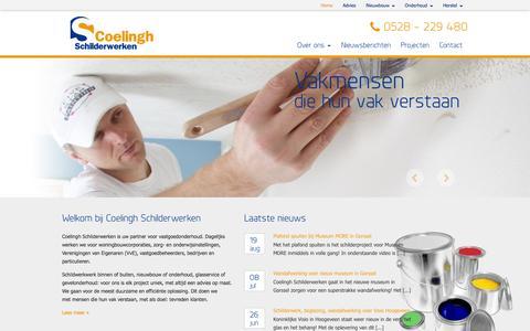 Screenshot of Home Page coelinghschilderwerken.nl - Coelingh Schilderwerken te Hoogeveen - captured Oct. 3, 2014