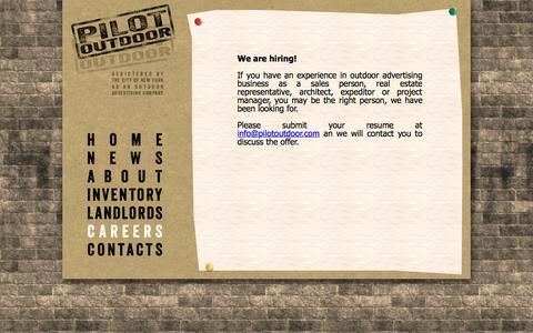 Screenshot of Jobs Page pilotoutdoor.com - Pilot Outdoor - captured Sept. 29, 2014