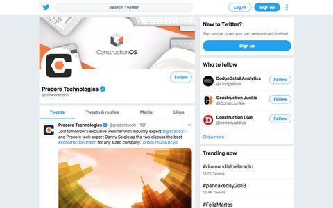 Tweets by Procore Technologies (@procoretech) – Twitter