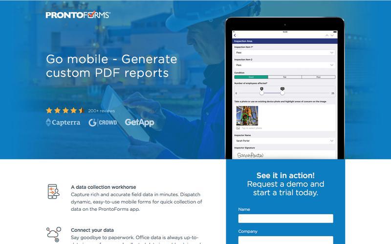 Mobile Forms | Digital Forms App | ProntoForms