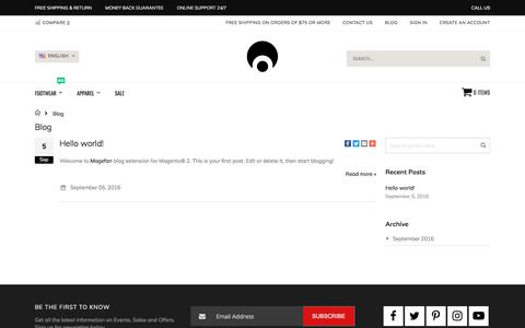 Screenshot of Blog Press Page osirisshoes.com - Blog - captured Aug. 2, 2019