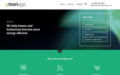Screenshot of Home Page thegreenage.co.uk - TheGreenAge - Energy Saving Advice Community | The Home of Energy Saving - captured Aug. 4, 2015