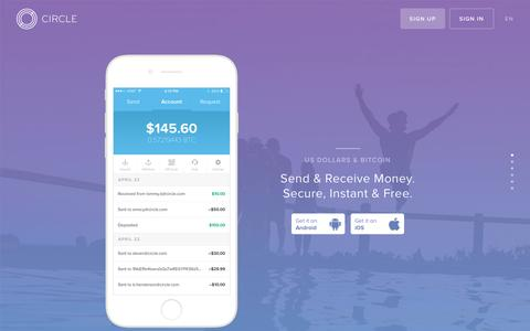 Circle | Send & Receive Money. Secure, Instant & Free. US Dollars & Bitcoin.