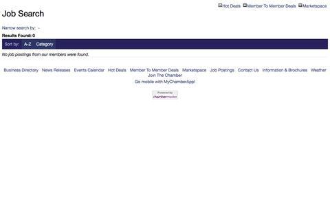 Screenshot of Jobs Page stbernardchamber.org - Job Search - captured Dec. 3, 2016