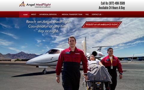 Screenshot of Home Page airambulancefloridaamf.com - Air Ambulance Florida AMF - Medical Flights, Air Medical Transports Florida - captured May 16, 2016
